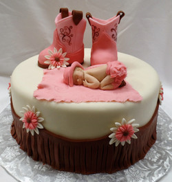 Cowgirl Baby Shower Cake