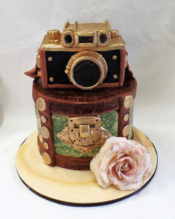 Antique Camera Birthday Cake