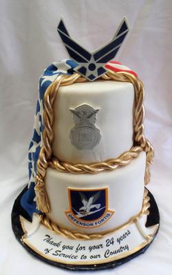 AF Security Forces Retirement Cake