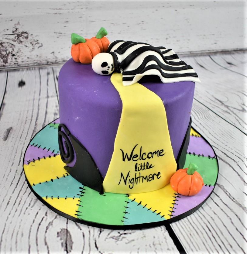 Nightmare Baby Shower Cake