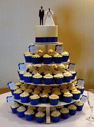 royal blue wedding cake and cupcakes the mad batter bakery wedding bridal shower groom s cakes 19369