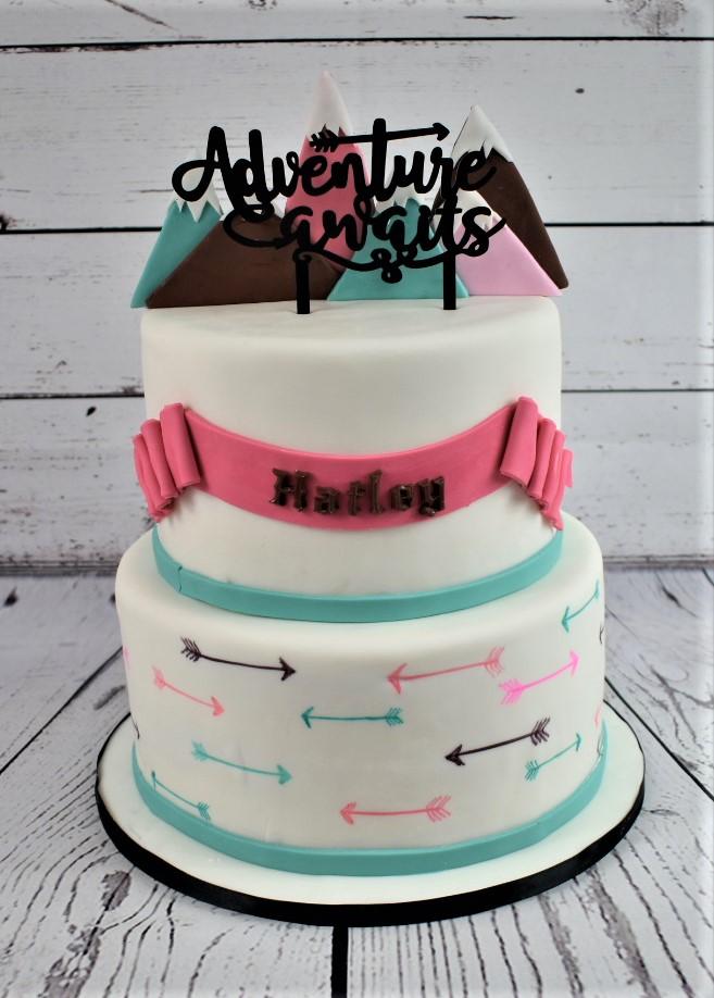 Adventure Awaits Baby Shower Cake