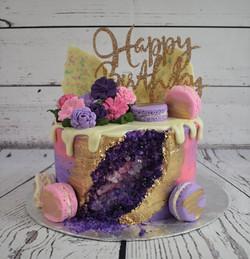 Geode Birthday Cake