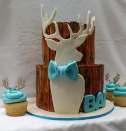 Deer Baby Shower Cake
