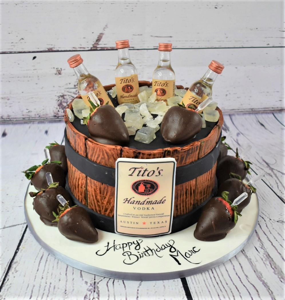 Boozy Birthday Cake