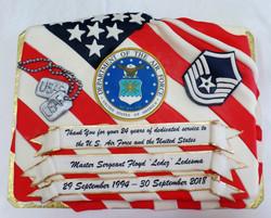 Air Force Retiremet Cake