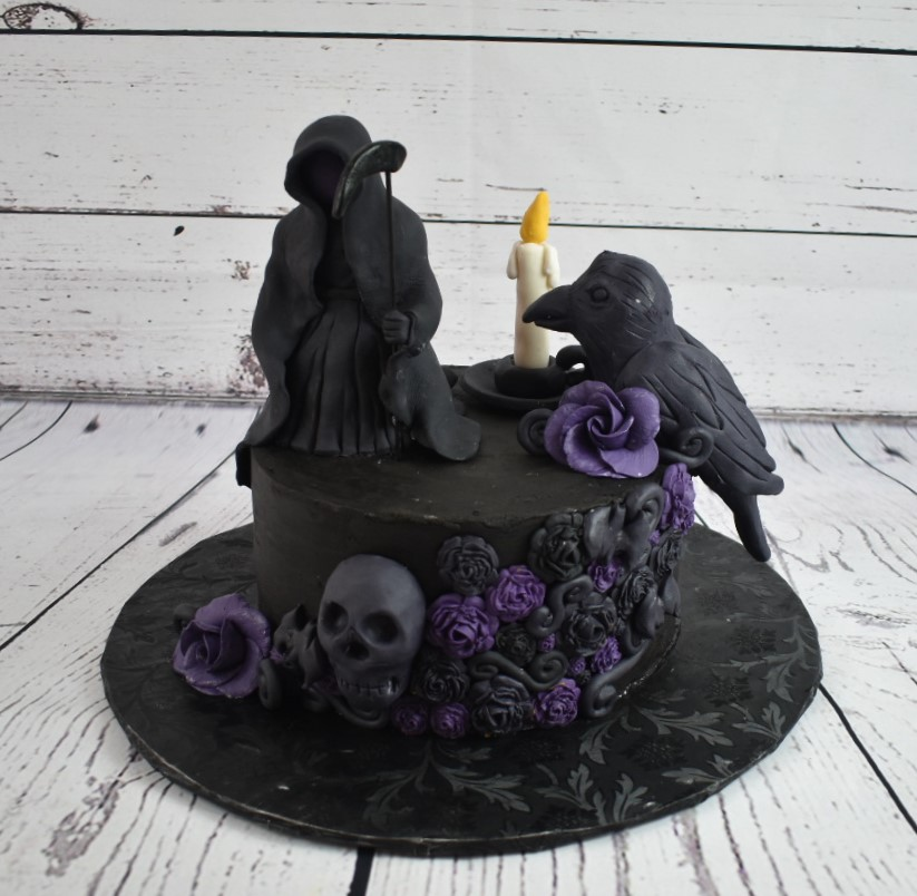 Dark Grim Birthday Cake