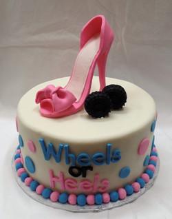 Wheels or Heels Baby Shower Cake