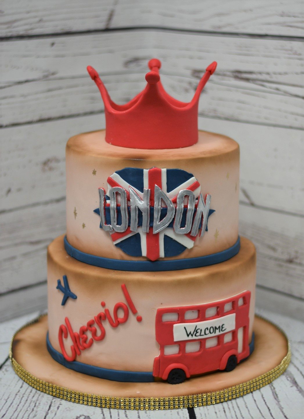 London Baby Shower Cake