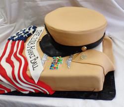 Khaki Ball Cake