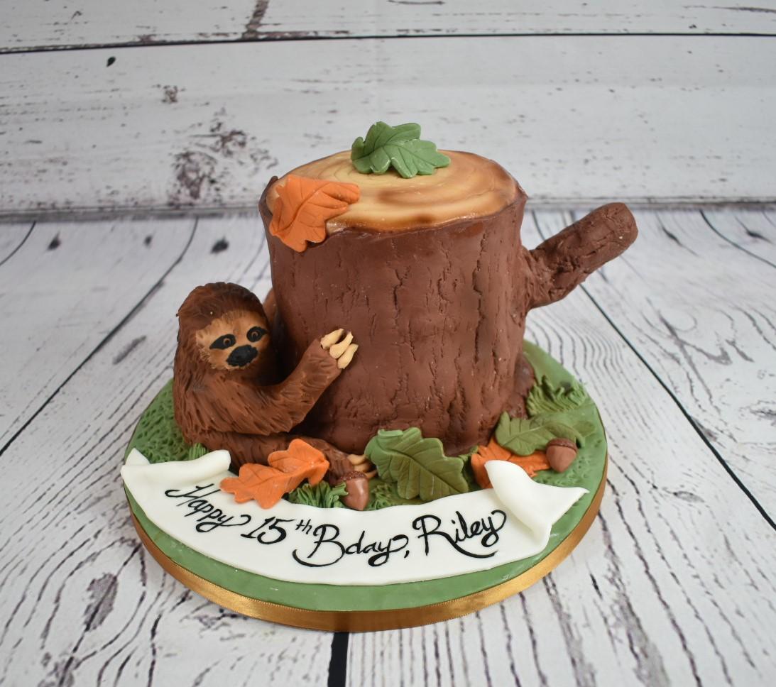 Sloth Birthday Cake