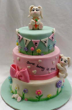 Some Bunny is One Birthday Cake