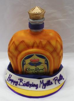 Crown Royal Birthday Cake