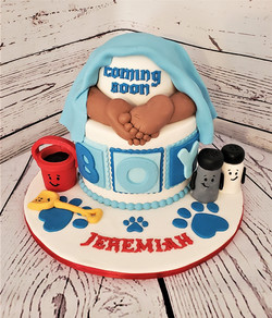 Blues Clues Baby Butt Shower Cake