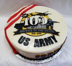 Army 100 years Cake