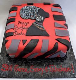 Strong Woman Birthday Cake