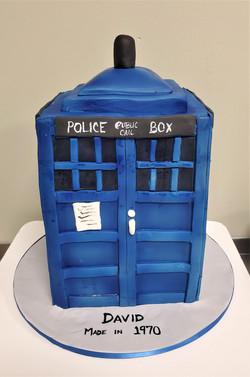 Police Call Box Birthday Cake