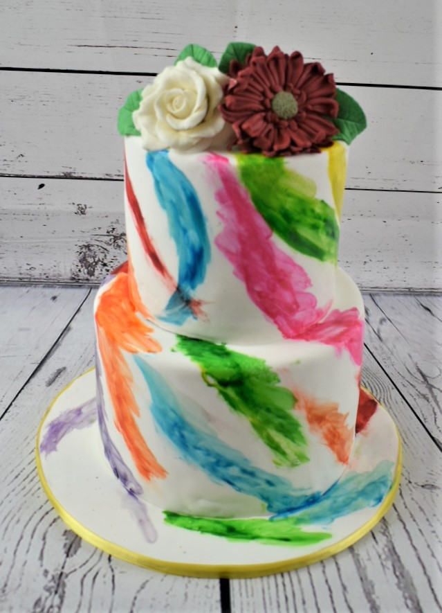 Watercolor Bridal Shower Cake