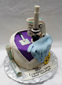 Medical Tech Graduation Cake