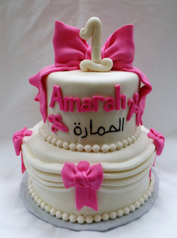 Bows and Swag Birthday Cake