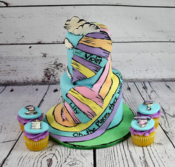 Oh the Places Baby Shower Cake