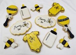 Mom to Bee Baby Shower Cookies