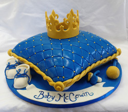King Baby Shower Cake