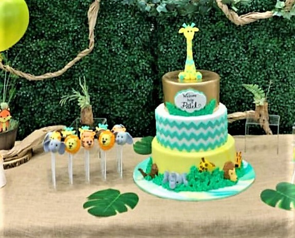 Jungle Baby Shower Cake/Cake Pops