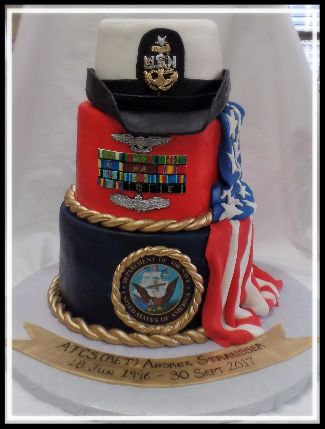 US Navy Retirement Cake