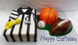 Sports Ref Birthday Cake