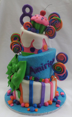 Topsy Turvy Sweets & Candy Cake