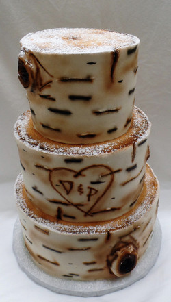 Winter Birch Wedding Cake
