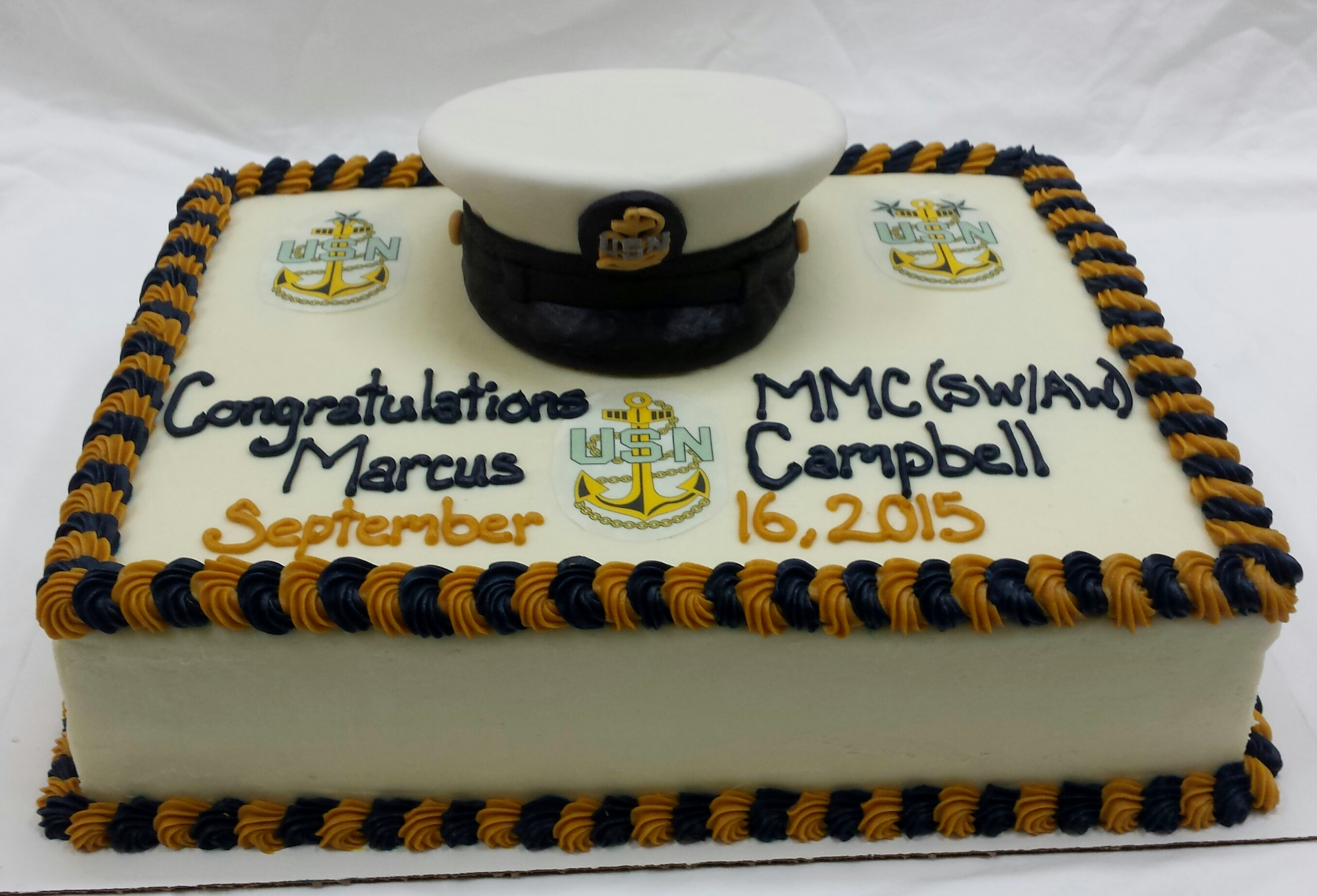 Navy Retirement Cake