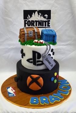 Videogame Birthday Cake