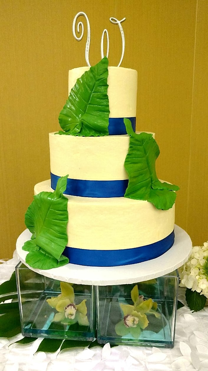 Elephant Ear Wedding Cake
