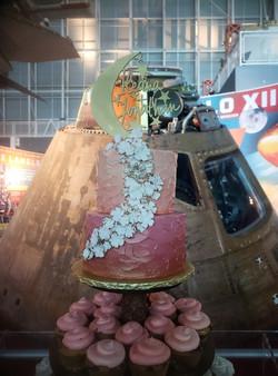 To the Moon Wedding Cake