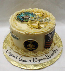 Navy Re-enlistment Cake