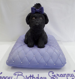 Puppy and Pillow Cake