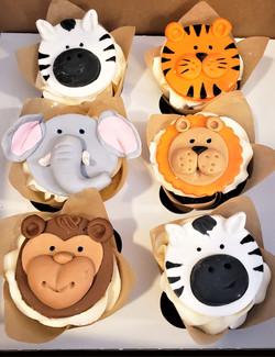 Animal Birthday Cupcakes