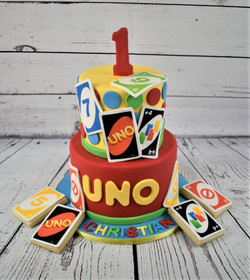 Uno Birthday Cake and Cookies