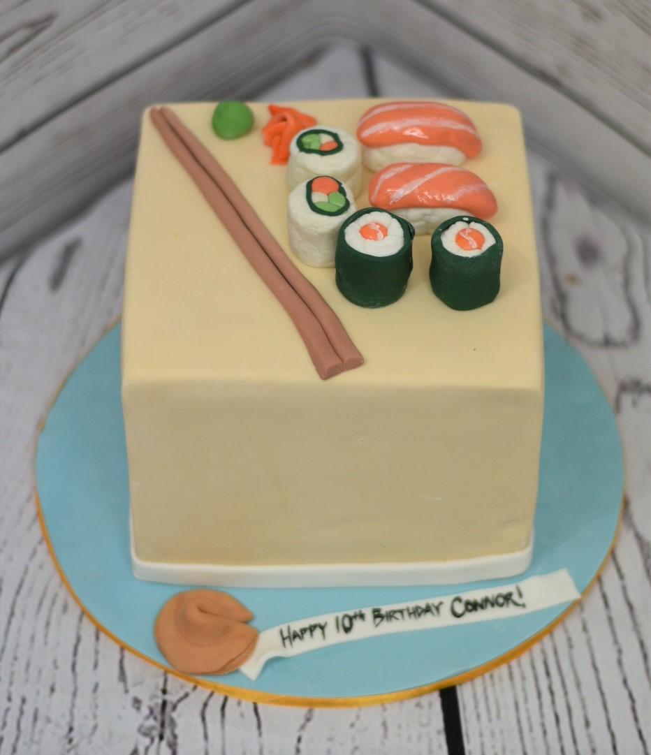 Sushi Birthday Cake