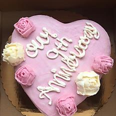 "8"" Custom Heart Shaped Cake"