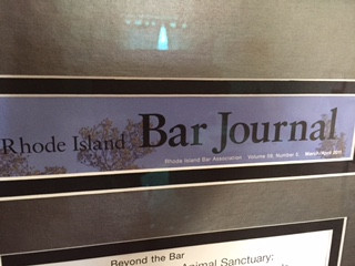 The Rhode Island Bar Journal interviews our Executive Director!