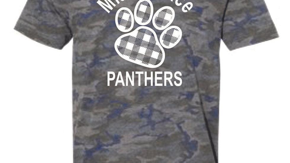 LAT Vintage Camo Unisex MT Panthers tee