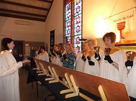 Handbell Choir.  Holy Trinity, a Lutheran church in NJ