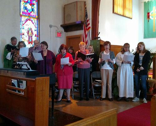Senior choir, Holy Trinity, a Lutheran Church in NJ