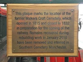 Walkers Croft Plaque in Situ at Victoria