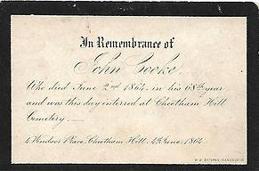 JOHN COOKE 2ND JUNE 1864 CHEETHAM HILL C