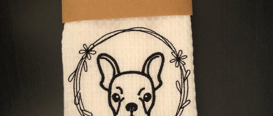 French Bulldog Kitchen Towel- Tea Towel