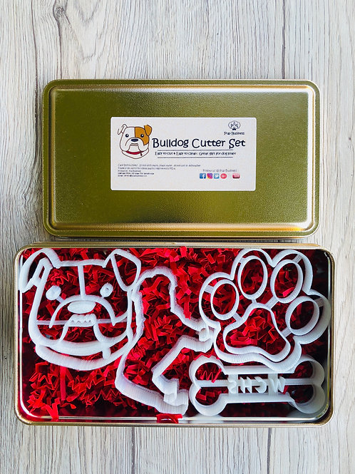 Bulldog Cookie Cutter Set